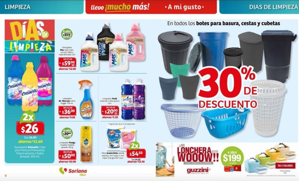 Soriana: Folleto Días de Limpieza del 27 de Septiembre al 3 de Octubre 2019