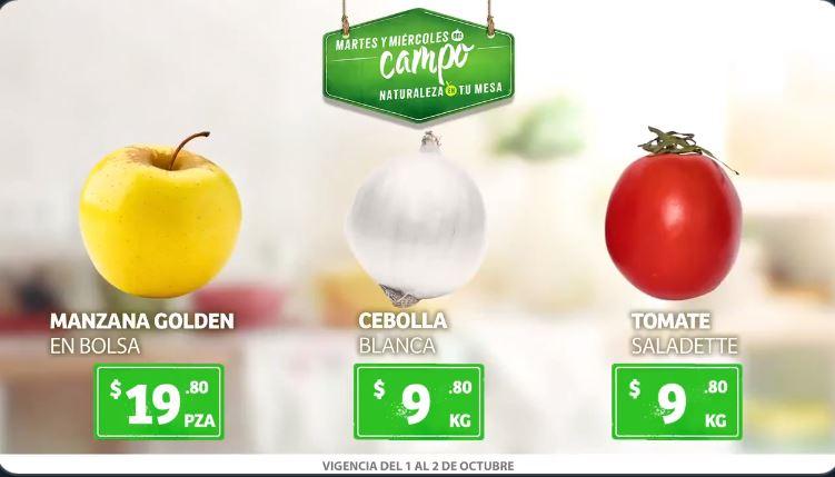Soriana: Ofertas Frutas y Verduras Martes y Miércoles del Campo 1 y 2 de Octubre 2019