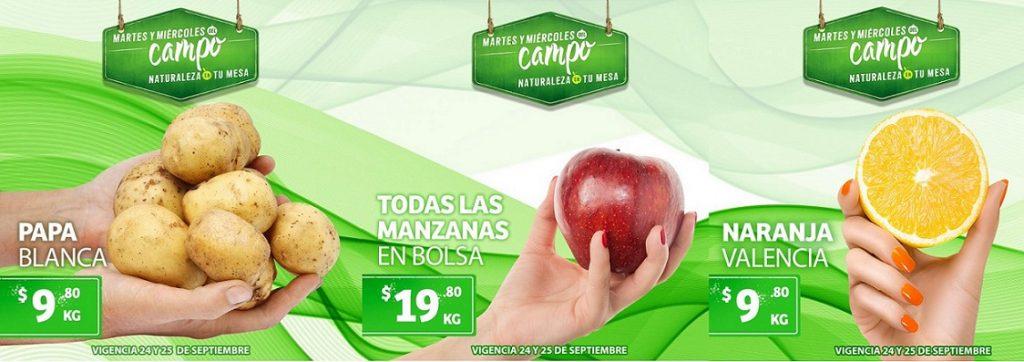 Soriana: Ofertas Frutas y Verduras Martes y Miércoles del Campo 24 y 25 de Septiembre 2019