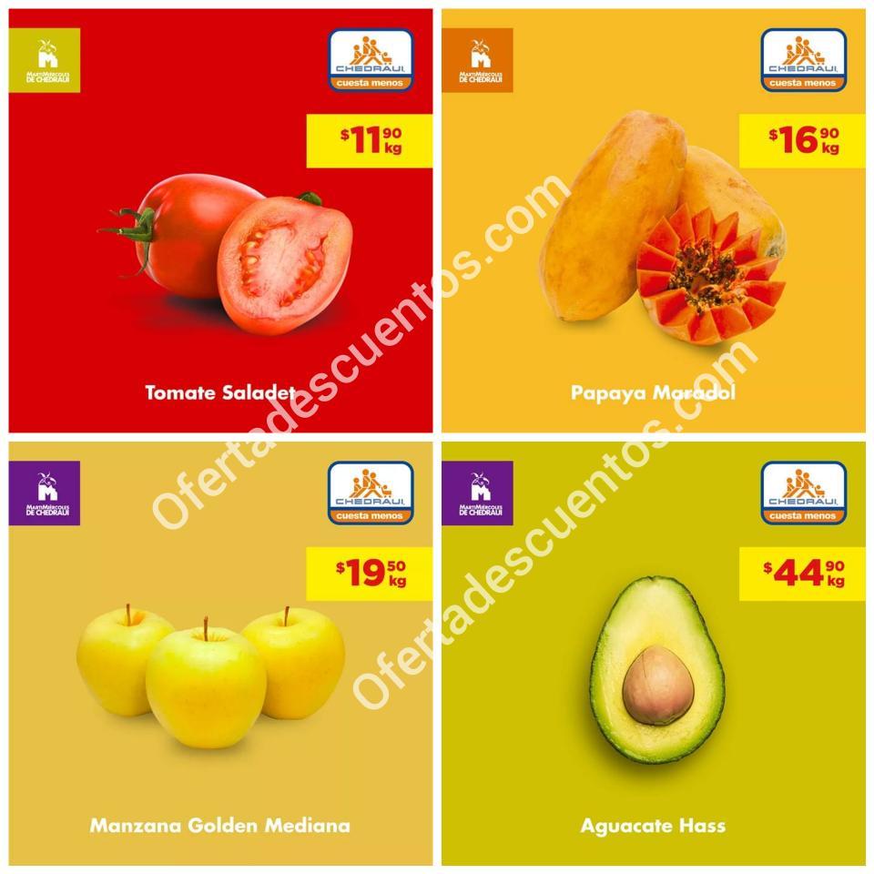 Chedraui: Ofertas MartiMiércoles de Frutas y Verduras 15 y 16 de Octubre 2019