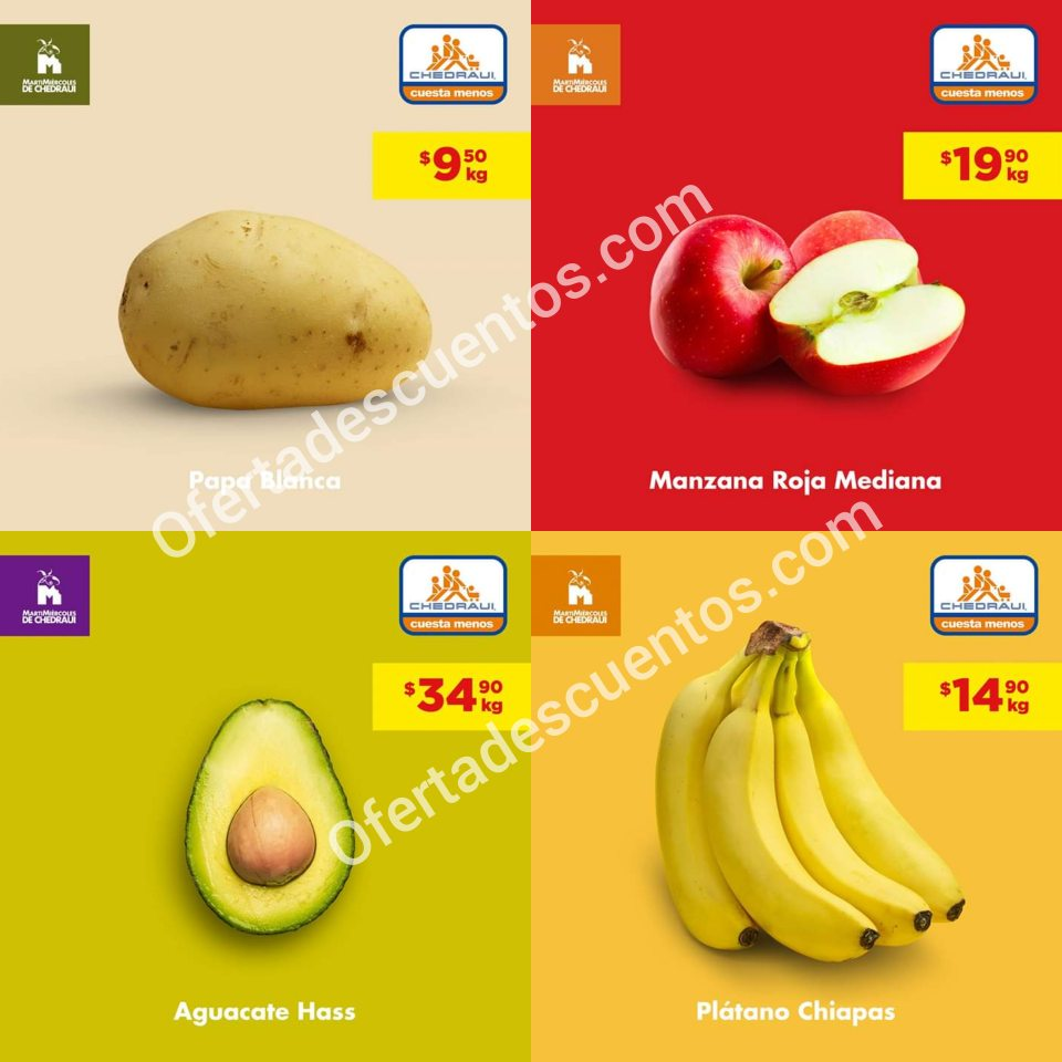 Chedraui: Ofertas MartiMiércoles de Frutas y Verduras 29 y 30 de Octubre 2019