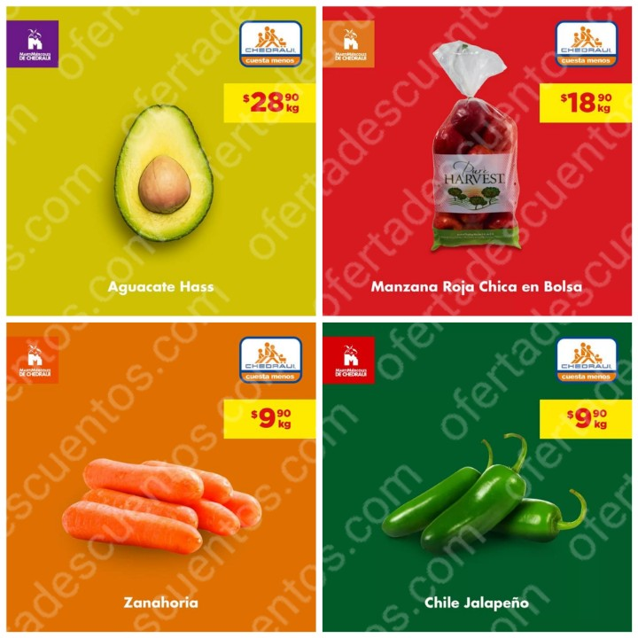 Chedraui: Ofertas MartiMiércoles de Frutas y Verduras 22 y 23 de Octubre 2019