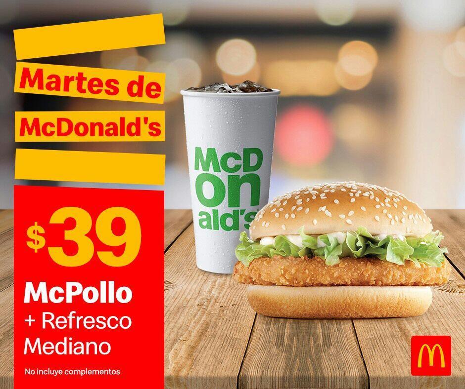 Cupones Martes de McDonald's 15 de Octubre 2019