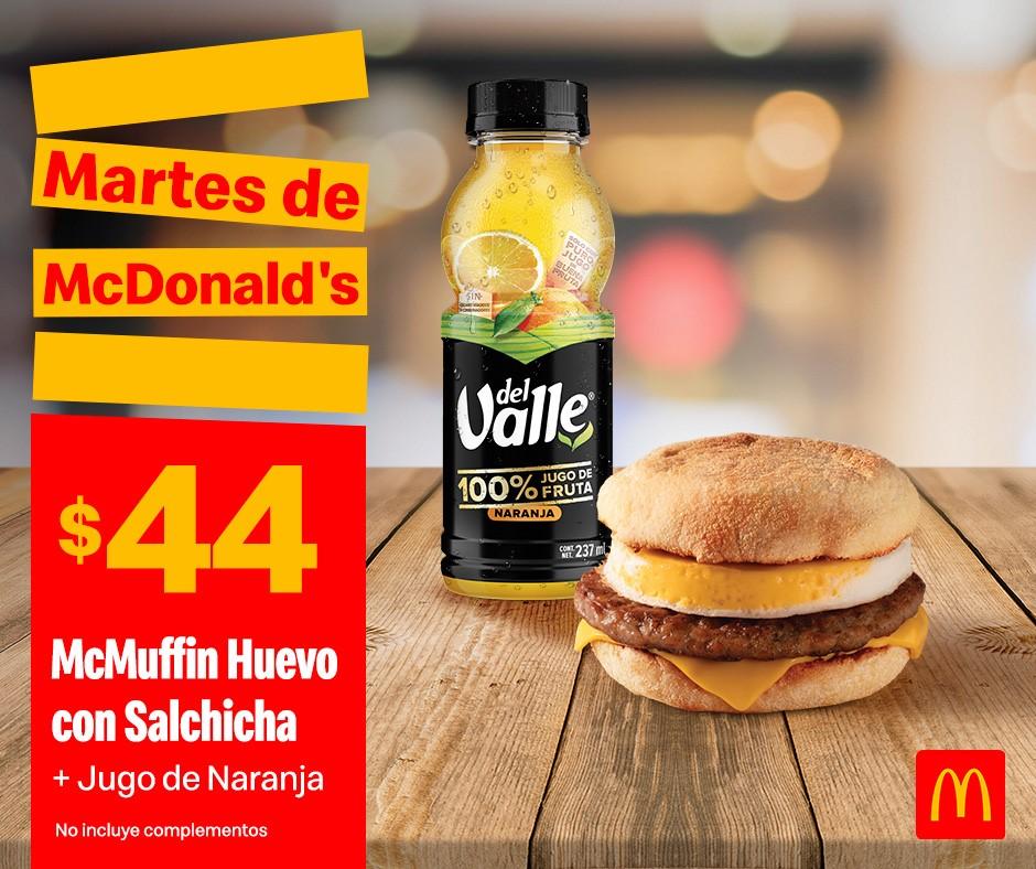 Cupones Martes de McDonald's 29 de Octubre 2019