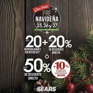 Venta Pre Navideña Sears del 25 al 27 de Octubre 2019