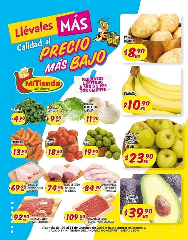 Mi Tienda del Ahorro: Ofertas Frutas y Verduras del 29 al 31 de Octubre 2019