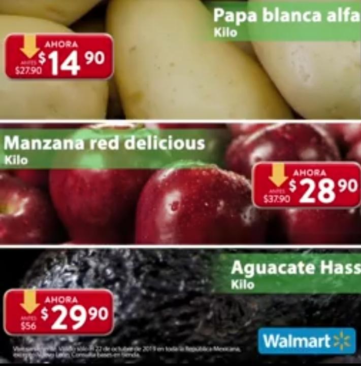 Ofertas Martes de Frescura Walmart 22 de Octubre 2019