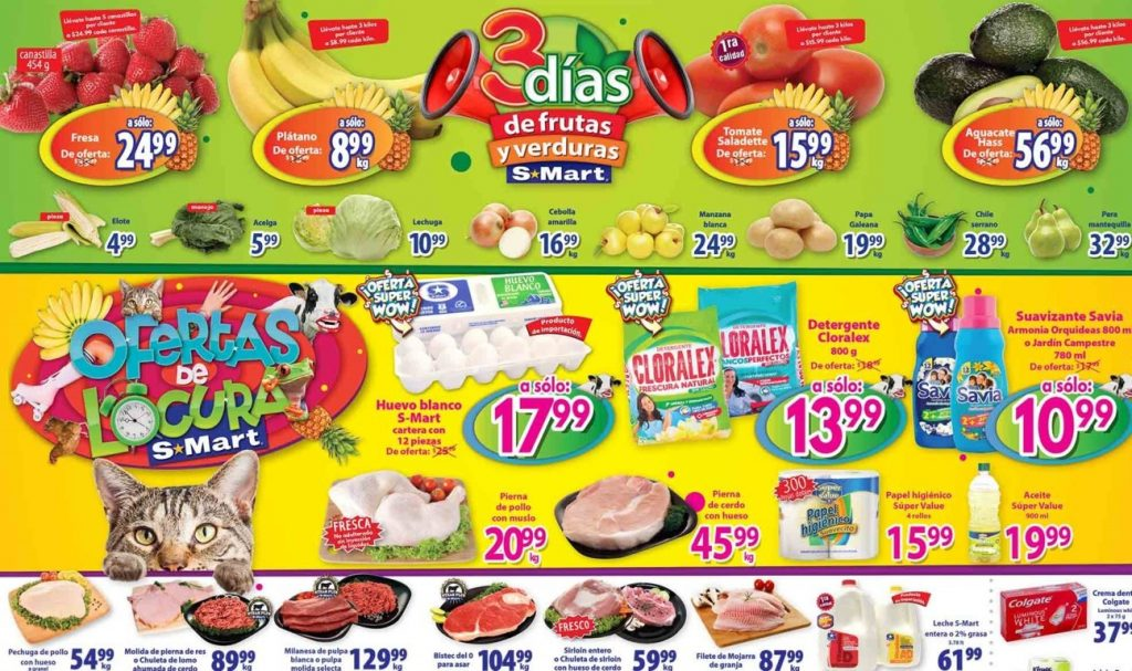 S-Mart: 3 Días de Ofertas en Frutas y Verduras del 1 a 3 de Octubre 2019