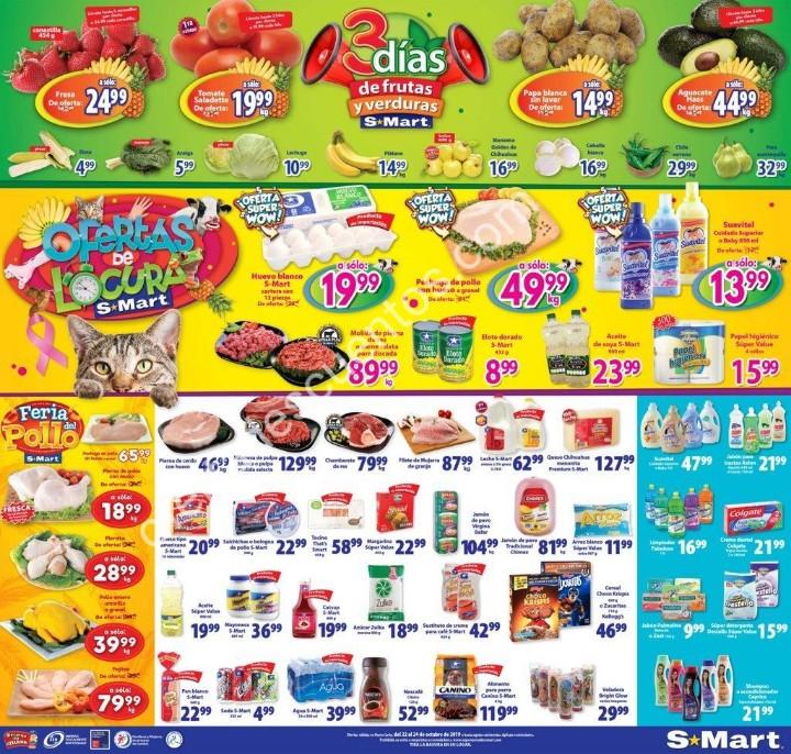 S-Mart: 3 Días de Ofertas en Frutas y Verduras del 22 al 24 de Octubre 2019