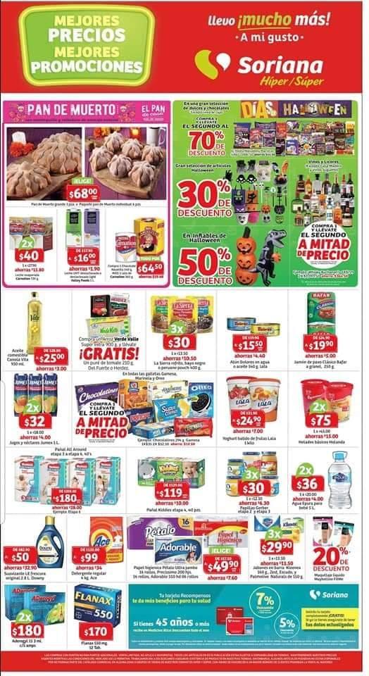 Soriana: Compra uno y llévate el segundo con 70% de descuento en todos los dulces y más