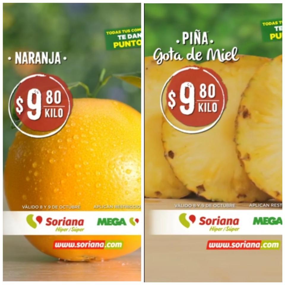 Soriana: Ofertas en Frutas y Verduras Martes y Miércoles del Campo 8 y 9 de Octubre 2019