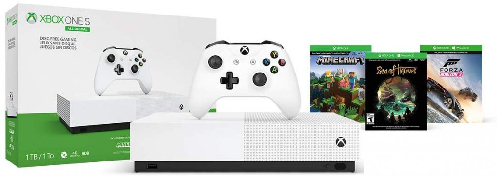 Buen Fin 2019 Amazon: Xbox One S 1TB All Digital con 3 juegos digitales desde $2,729