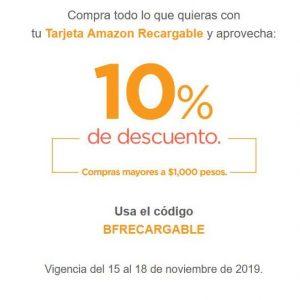 Buen Fin 2019 Amazon: 10% de descuento pagando con Amazon Recargable