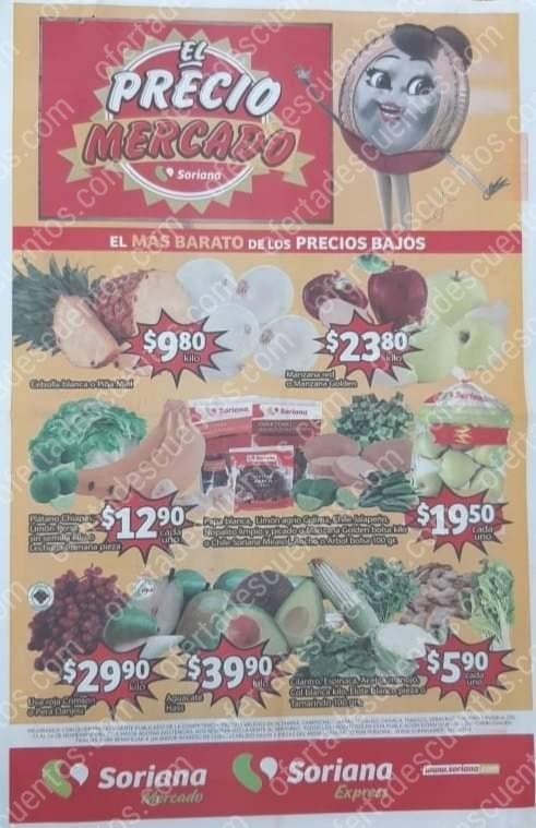 Soriana Mercado: Folleto Ofertas Frutas y Verduras del 12 al 14 de Noviembre 2019