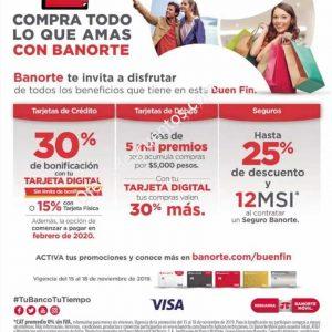 Promociones El Buen Fin 2019 en Banorte: 30% de Bonificación con Tarjeta Digital y más