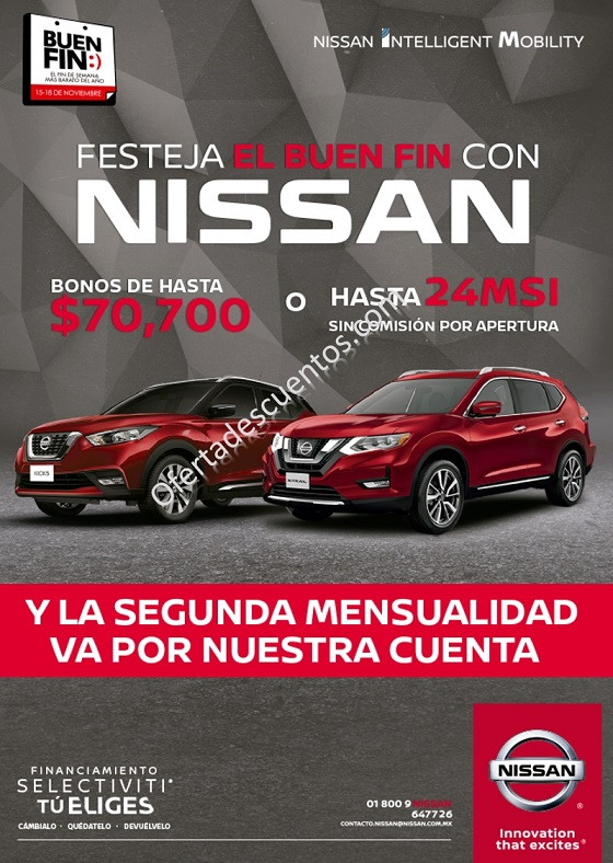 El Buen Fin 2019 Nissan: 0% de Comisión por Apertura, Segunda Mensualidad Gratis y más