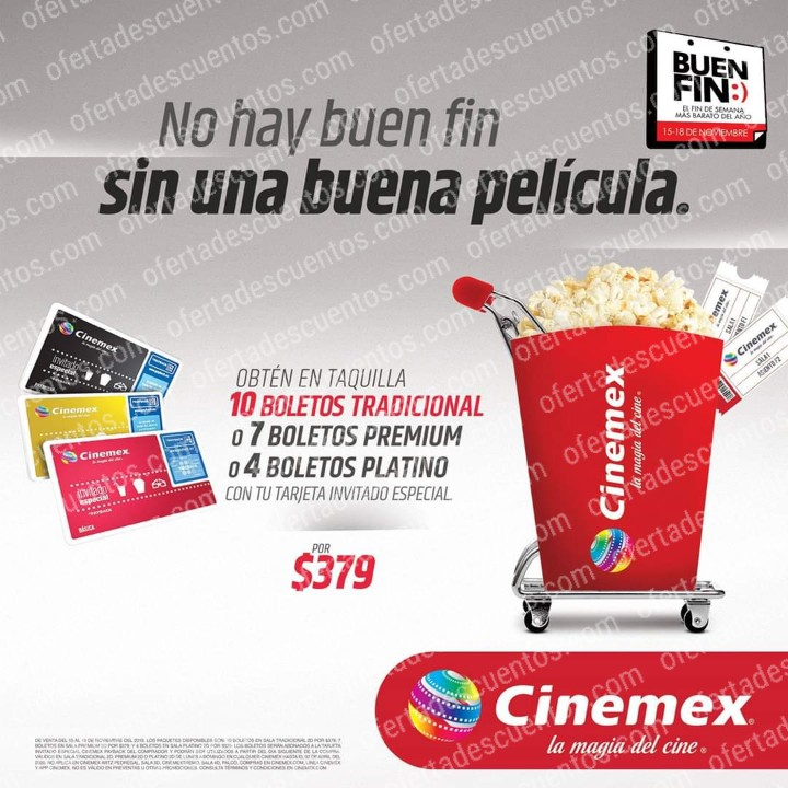 Promociones El Buen Fin 2019 Cinemex