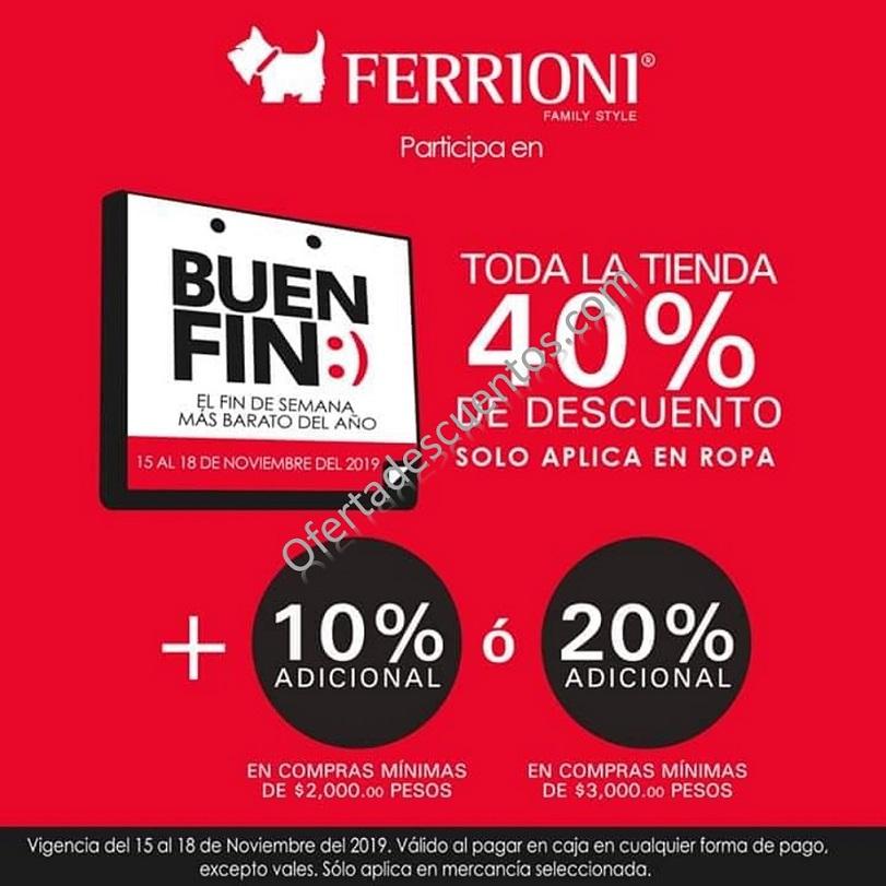 Promociones El Buen Fin 2019 en Ferrioni