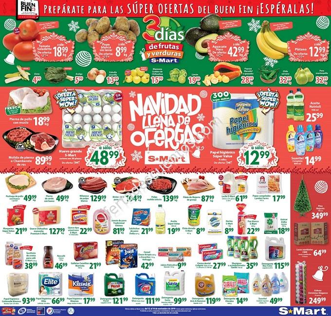 S-Mart: 3 Días de Ofertas en Frutas y Verduras del 12 al 15 de Noviembre 2019