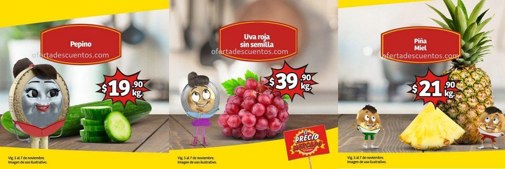 Soriana Mercado: Ofertas Frutas y Verduras del 5 al 7 de Noviembre 2019