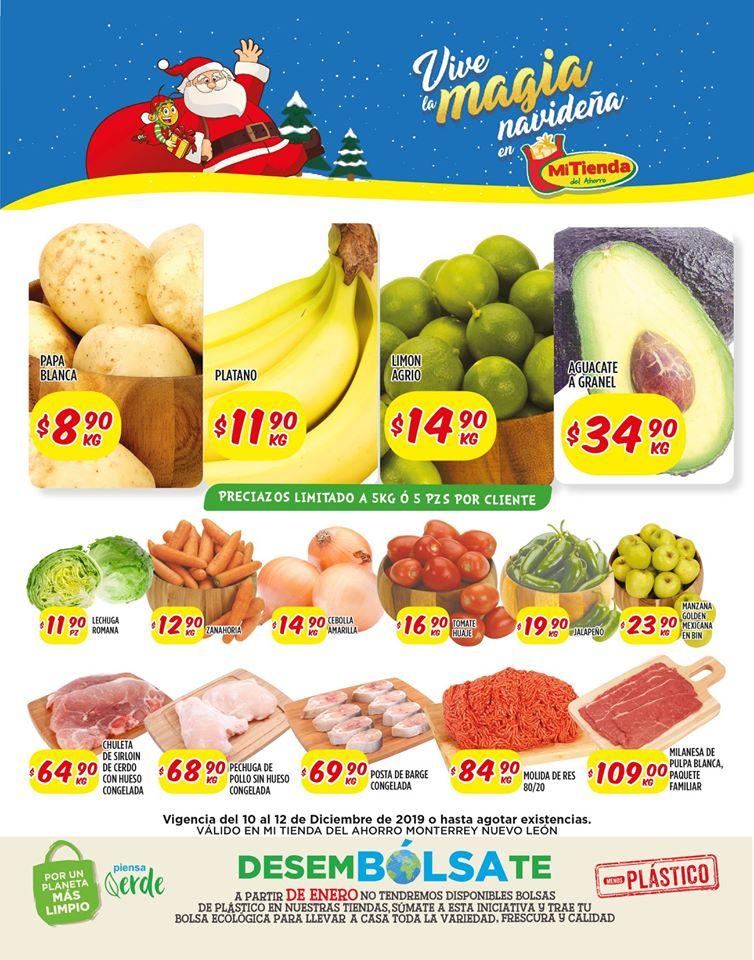 Mi Tienda del Ahorro: Frutas y Verduras del 10 al 12 de Diciembre 2019