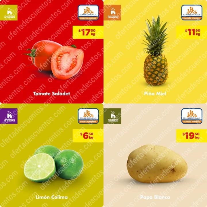 Chedraui: Ofertas MartiMiércoles de Frutas y Verduras 21 y 22 de Enero 2020