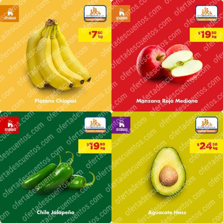 Chedraui: Ofertas MartiMiércoles de Frutas y Verduras 7 y 8 de Enero 2020