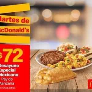 Cupones Martes de MacDonald's 28 de Enero 2020