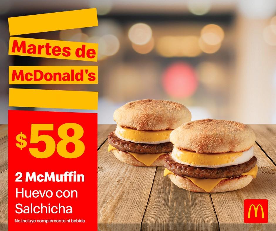 Cupones Martes de McDonald's 7 de Enero 2020