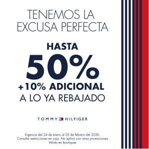 Rebajas Tommy Hilfiger: Hasta 50% de descuento más 10% adicional a lo ya rebajado