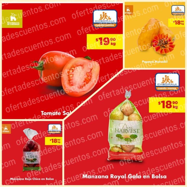 Chedraui: Ofertas MartiMiércoles de Frutas y Verduras 4 y 5 de Febrero 2020