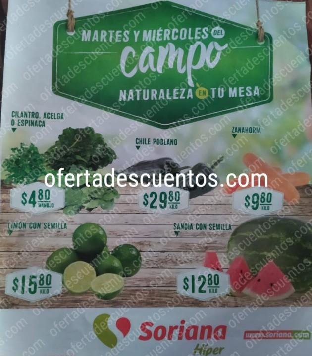 Soriana: Ofertas Frutas y Verduras Martes y Miércoles del Campo 18 y 19 de Febrero 2020