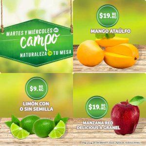 Soriana: Ofertas Frutas y Verduras Martes y Miércoles del Campo 25 y 26 de Febrero 2020
