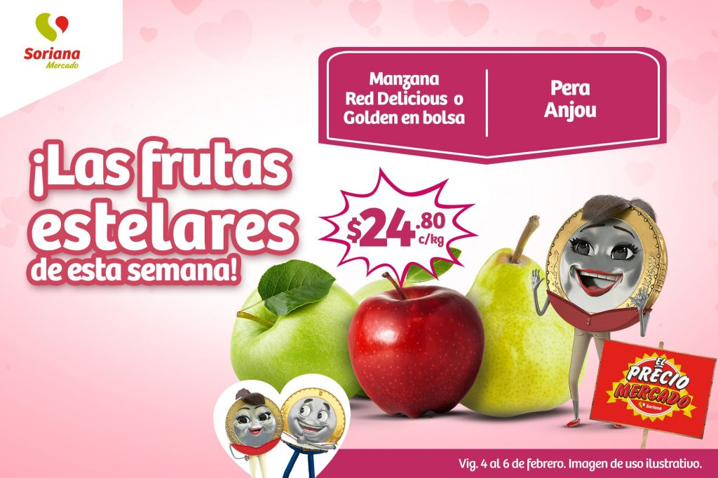 Soriana Mercado: Ofertas en Frutas y Verduras del 4 al 6 de Febrero 2020