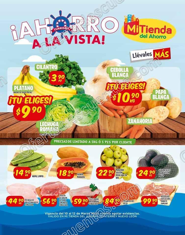 Mi Tienda del Ahorro: Ofertas Frutas y Verduras del 10 al 12 de Marzo 2020