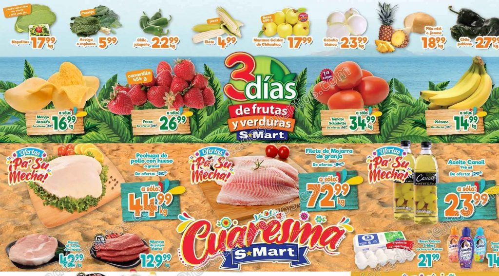 S-Mart: Ofertas en Frutas y Verduras del 3 al 5 de Marzo 2020