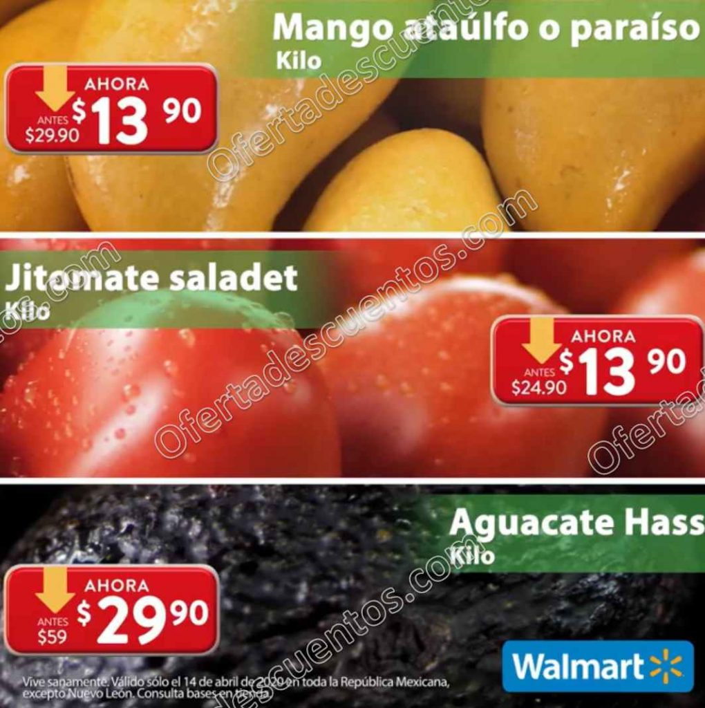 Ofertas Martes de Frescura Walmart 14 de Abril 2020