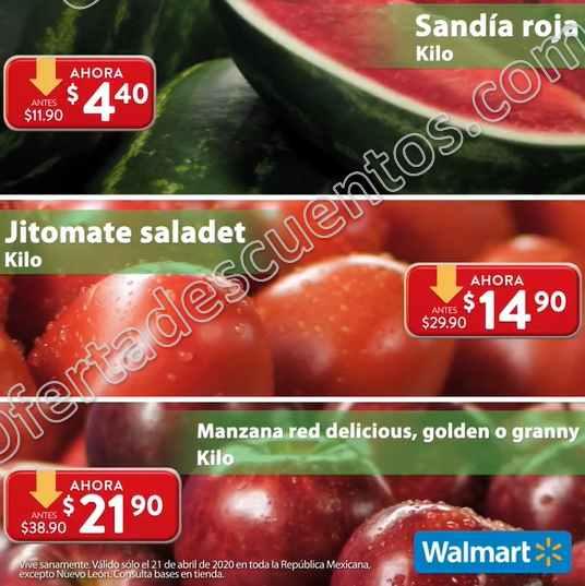 Ofertas Martes de Frescura Walmart 21 de Abril 2020