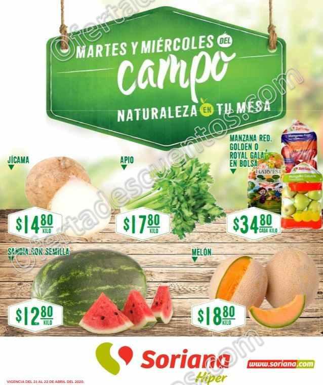 Soriana: Ofertas Frutas y Verduras 21 y 22 de Abril 2020