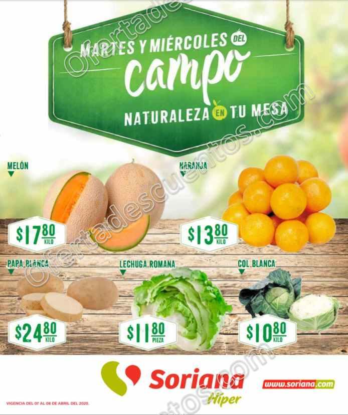Soriana: Ofertas Frutas y Verduras Martes y Miércoles del Campo 7 y 8 de Abril 2020