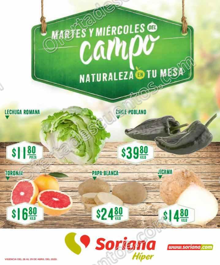 Soriana: Ofertas Frutas y Verduras 28 y 29 de Abril 2020