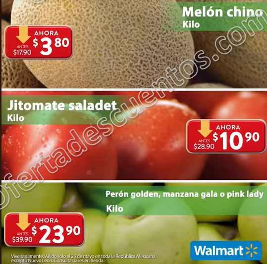 Ofertas Martes de Frescura Walmart 26 de Mayo 2020