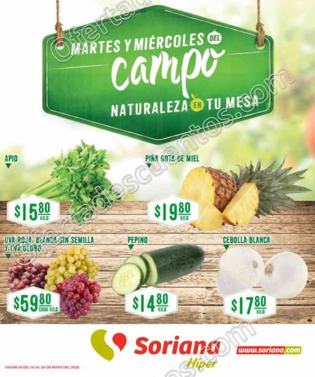 Soriana: Ofertas Frutas y Verduras 5 y 6 de Mayo 2020