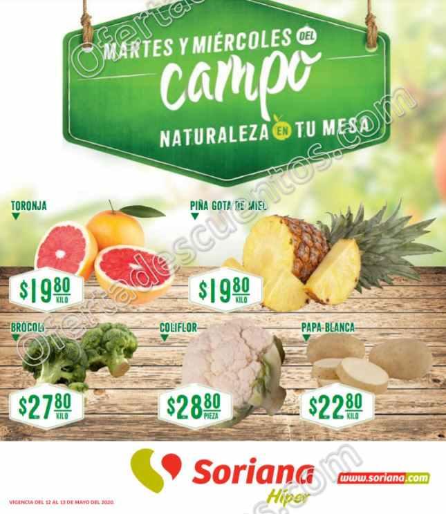 Soriana: Ofertas Frutas y Verduras 12 y 13 de Mayo 2020