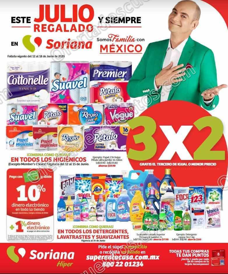 Folleto de Ofertas Julio Regalado 2020 Soriana Hiper del 12 al 18 de Junio