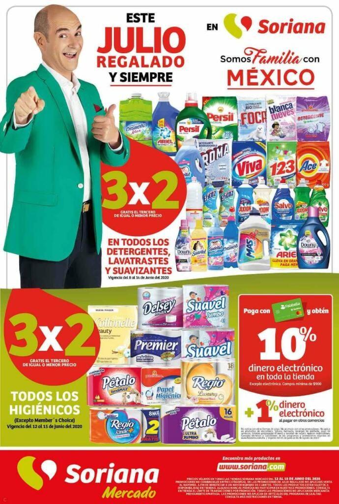 Folleto Ofertas Julio Regalado 2020 Soriana Mercado del 12 al 18 de Junio