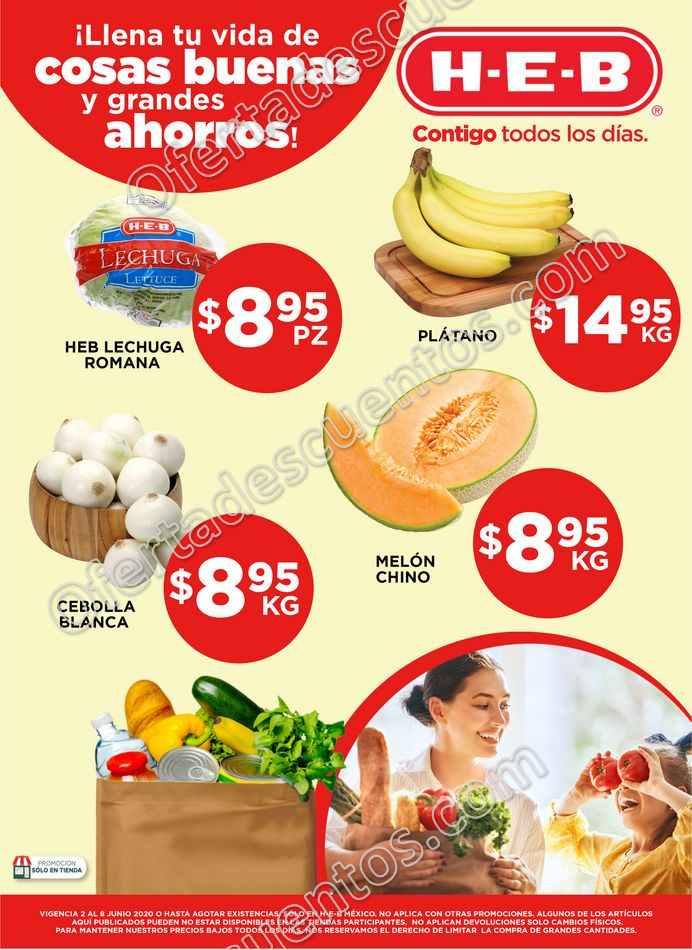 HEB: Ofertas Frutas y Verduras del 2 al 8 de Junio 2020