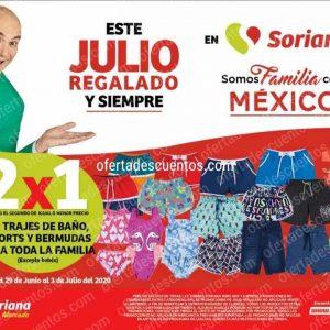 Julio Regalado 2020 Soriana: 2×1 en Trajes de Baño, Shorts y Bermudas Para Toda la Familia