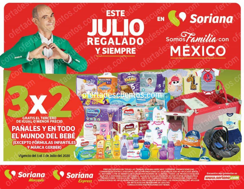 Julio Regalado 2020 Soriana: 3×2 en Pañales y Todo Para Bebés