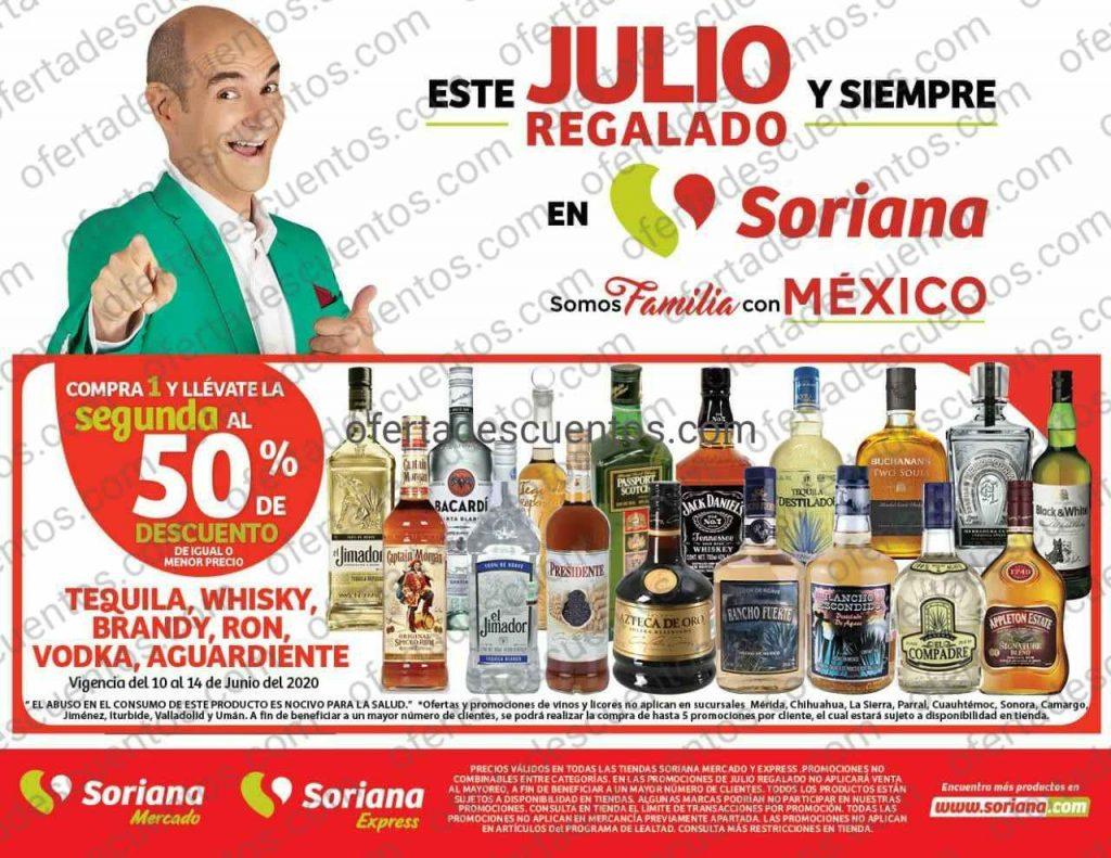Julio Regalado 2020 Soriana: 50% de descuento en segundo producto en Vinos y Licores